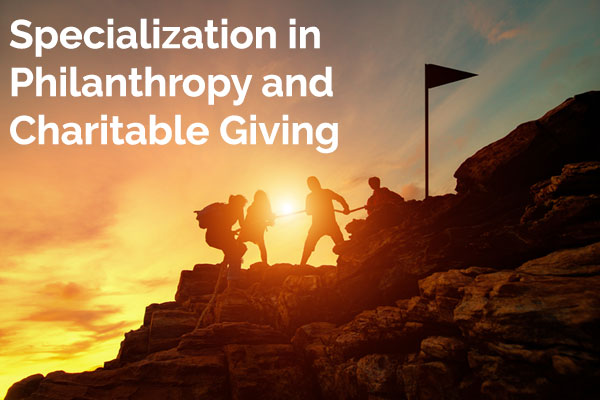 Specialization in Philanthropy and Charitable Giving